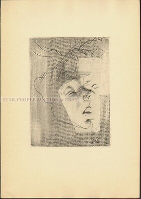 JEAN CASSOU - LE PAUVRE * VERY RARE DRY-POINT ETCHING FROM 1955 by lancelot ney