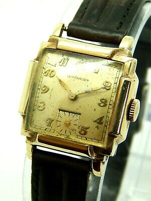 Vintage Swiss Made Art Deco Wittnauer 10K Gold Filled Watch 17 Jewels Cal. 10FL