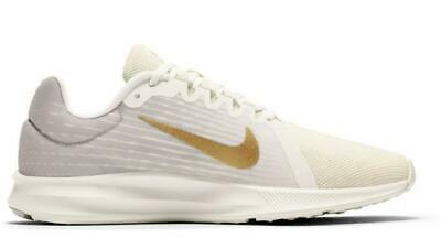 96c5ecb0c21c2 Nike Downshifter 8 Women's 9 Running Shoes Ivory+Gold Athletic Sneakers  908994