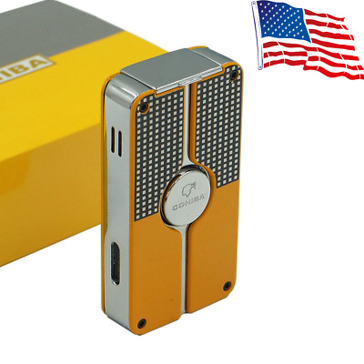 New Classic torch metal lighter Jet Windproof BIC Pack with a fancy gift box