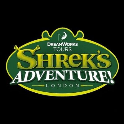 2  Shrek Adventure Tickets - Booking Form & Tokens Pick Your Own Date