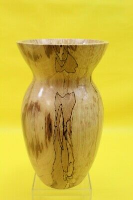 Spalted Mottled Beech Hand Turned Wood Wooden Decorative Vase ## Rec 33 Lc