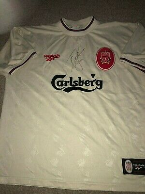 57fce4a56 Personally Signed Liverpool Shirt John Barnes Anfield And England Legend Coa