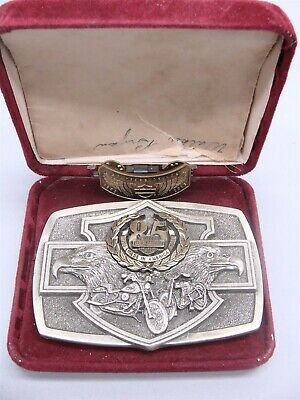 Harley Davidson 85th Anniversary Limited Edition Belt Buckle & Pin