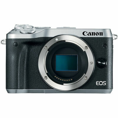 Canon EOS M6 Mirrorless Digital Camera (Body Only, Silver) 1725C001