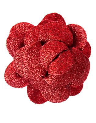 GYMBOREE BRIGHTEST IN CLASS RED GLITTER FLOWER HAIR BARRETTE 1-CT NWT