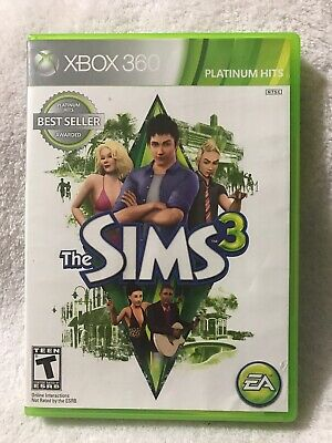 The Sims 3 (Microsoft Xbox 360, 2010) Great Condition Free Shipping