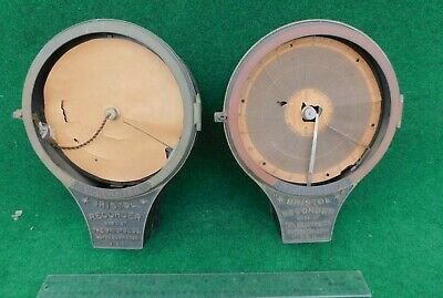 2 Early Antique Bristol Recorder Meters   Electric meter w/ Low S / No Reserve