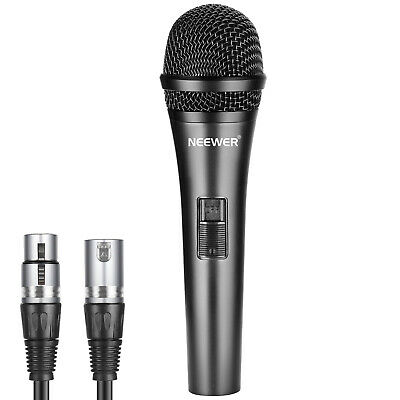 Neewer Cardioid Microphone with 3.5mm Male to XLR Female Cable for Vocals Speech