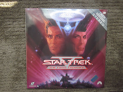 Factory Sealed Star Trek The Final Frontier Laser Videodisc Brand New Sterio