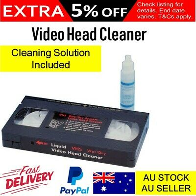 Video Head Cleaner VCR VHS Cassette Cleaning Solution Kit Tape Path Cleaner