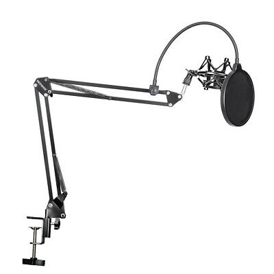Neewer Microphone Suspension Boom Scissor Arm Stand with Mic Clip Holder Kit