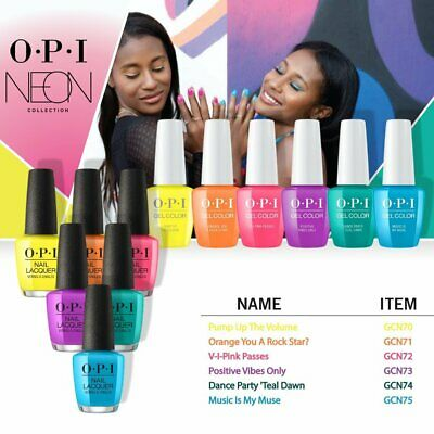 OPI DUO GEL & LACQUER :: Neon Collection Summer 2019 :: 0.5oz each