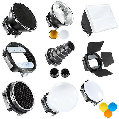 Kit de Accesorios para Flash incluye Visera Snoot cónico Reflector difusor