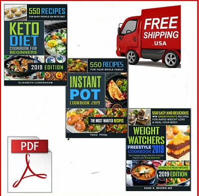 Total 3 Books 550 Recipes Keto Diet Cookbook - Eb00k/PDF - FAST Delivery