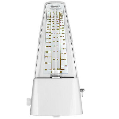 Neewer Wind Up Mechanical Metronome for Piano Guitar Bass Drum Violin White