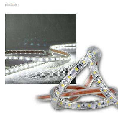 ( 8,17€/ M) 20m LED Bandeau Lumineux Blanc Froid 230V Dimmable IP44 SMD Stripe