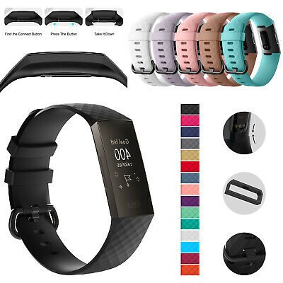 For Fitbit Charge 4/3 Watch Silicone Strap Wristband Replacement Band Size S/L