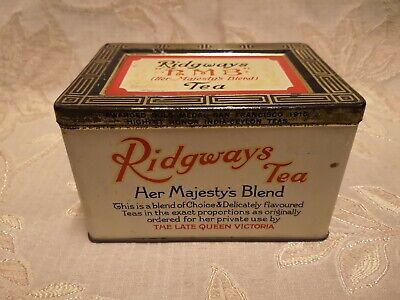 "Antique Ridgways '' HMB "" Tea Her Majesty's Blend Tin"