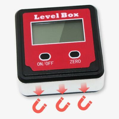 LCD RED Electronic Digital Display Inclinometer Measuring Angle Precision Box