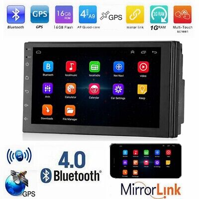 "7"" 2 Din Car Stereo MP5 Player Android 8.0 Quad-Core BT4.0 GPS Navi FM Radio"