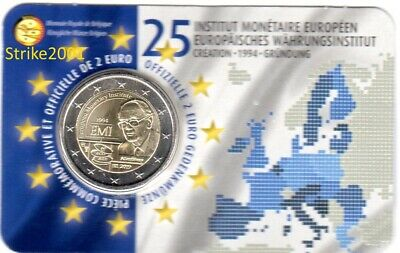NEW !!! Coin Card 2 EURO COMMEMORATIVO BELGIO 2019 IME EMI (Francia) NEW !!!