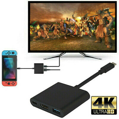 Portable 1080P 4K HDMI Adapter For Switch USBC HDMI Converter Type-C HUB Adapter