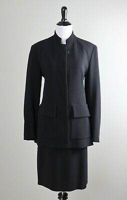 01431872e37e7 DONNA KARAN New York Black Label Collection 2 Piece Skirt Jacket Suit Top  Size 6
