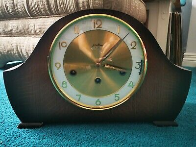 Antique/Vintage Bentima 8 Day Westminster Chimes Mantle Clock.