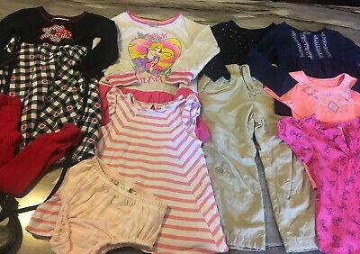 07360bb6e Huge 24 Piece Lot Of Girls 2T/3T Mixed Season Clothing Gymboree And Others