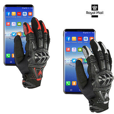 Motorcycle Gloves Hard Carbon Knuckle Bomber Leather Outdoor Racing Summer Bike