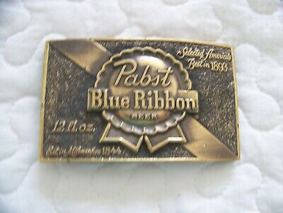 Vintage 1979 Pabst Blue Ribbon PBR Beer Belt Buckle Limited Edition #107