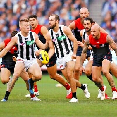 COLLINGWOOD PIES v MELBOURNE DEMONS   AFL TICKETS   TOP-DECK VIEW   FRONT 2 ROWS