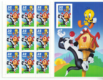 Scott #3204     Us Souvenir  Sheet    Sylvester  And  Tweety  32 Cent    Mnh