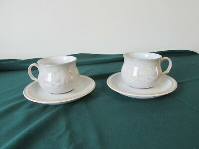 2 lovely Denby Dauphine Encore cups and saucers VGC