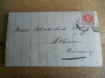 C A Blom & Co Newcastle Upon Tyne Pu Letter 1890 To Skien Norway
