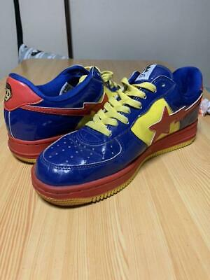 d4bc11b1 A BATHING APE ROADSTA DC COMIC SUPERMAN BAPESTA BAPE US size 8.5 Bape Sta  USED