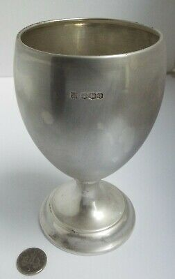 Lovely Genuine English Antique 1933 All Solid Sterling Silver Wine Goblet
