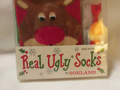 NEW REAL UGLY Socks by Soxland Design Your Own Polar Bear 9