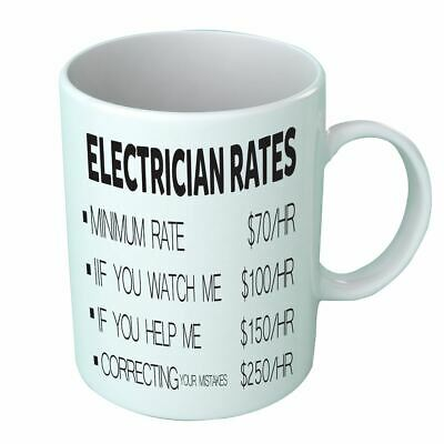PLUMBER HOURLY RATE Price List Funny Plumbing Tea Coffee Mug