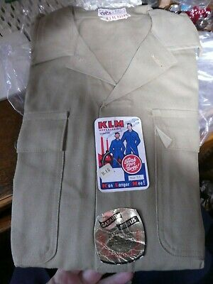Vintage 1940's / 50's  Workwear Overall , KLM, Wartime, re-enactment, Never used