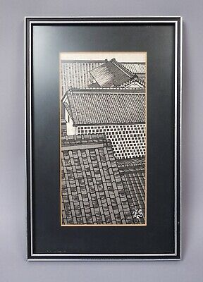 Estate Found Framed Gihachiro Okuyama Kurashiki Japanese Woodblock Print
