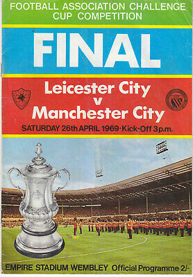 Leicester City V Manchester City FA Cup Final 1969 Programme