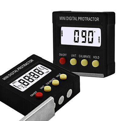 4x90˚ Mini Digital Protractor Electronic Inclinometer Magnetic Base Angle Meter