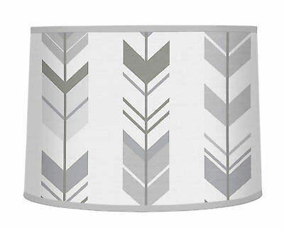 Lamp Shade for Sweet Jojo Designs Grey and White Woodland Arrow Bedding Sets