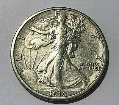 1916 S WALKING LIBERTY HALF DOLLAR choice extra fine XF/AU nice