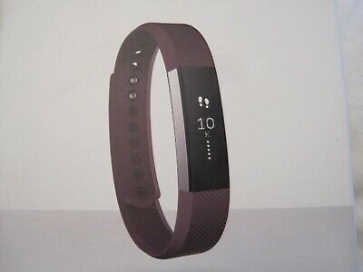 Nib Fitbit Alta S Fitness Plum Wristband Activity Track Stainless Steel Tracker
