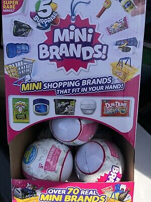 5 Surprise! Mini Brands - 1 Ball - Made By Zuru! Ships Today