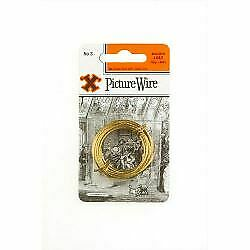 X Brass Picture Wire (Blister Pack) No. 3 Hardware  Ironmongery 12838