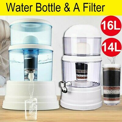 8 Stage Benchtop Water Filter Ceramic Mineral Stone Carbon Purifier Filters